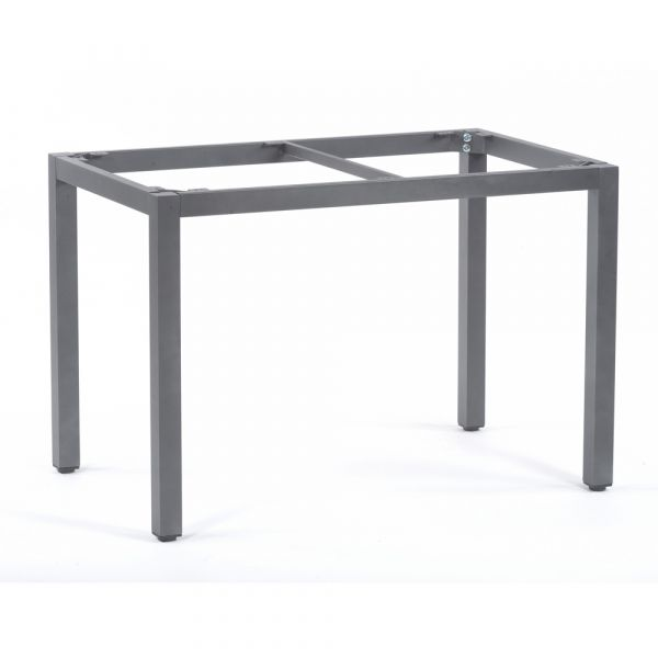 Steel Box Base Frame for Rectangular Table Top in Grey