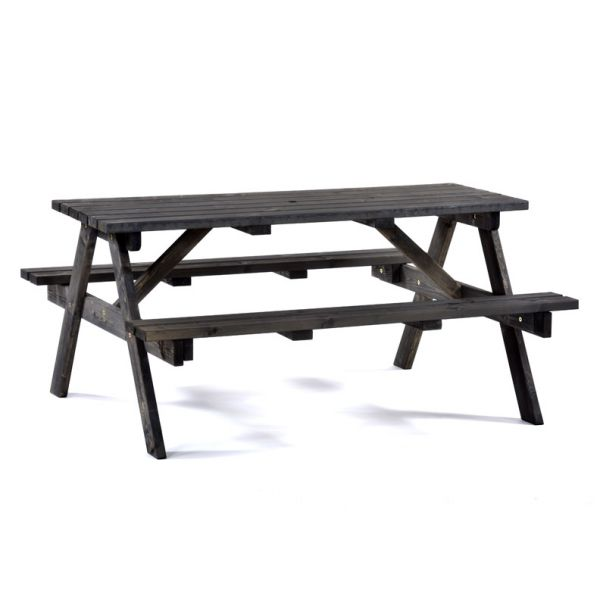 Chester A Frame 6 Seat Commercial Picnic Table in Dark Grey