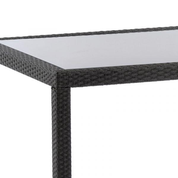 Oasis Rattan Rectangular Glass Dining Table
