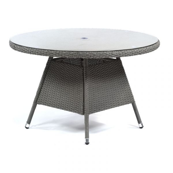 Oasis Rattan Large Round Glass Dining Table