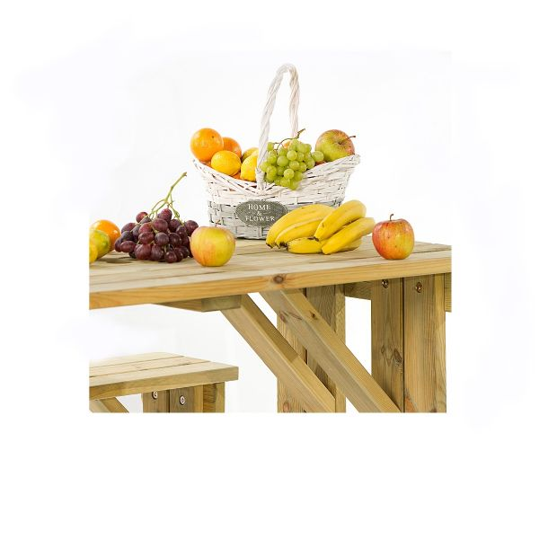 Guernsey 6 Seat Walk-In Commercial Picnic Table