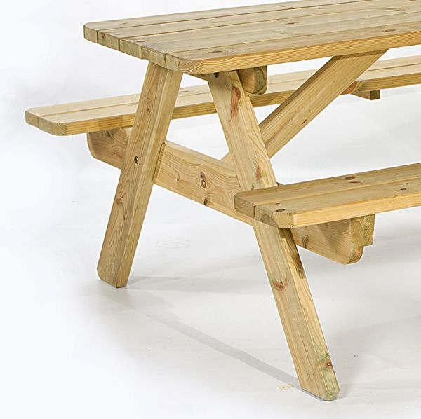 Jersey 6 Seat A Frame Picnic Table 140cm (32mm)