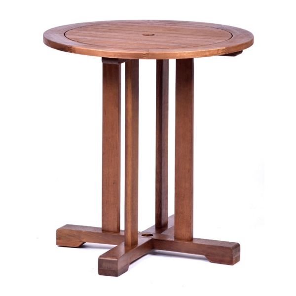 Melton Hardwood Round Pedestal Table and 2 Arm Chairs