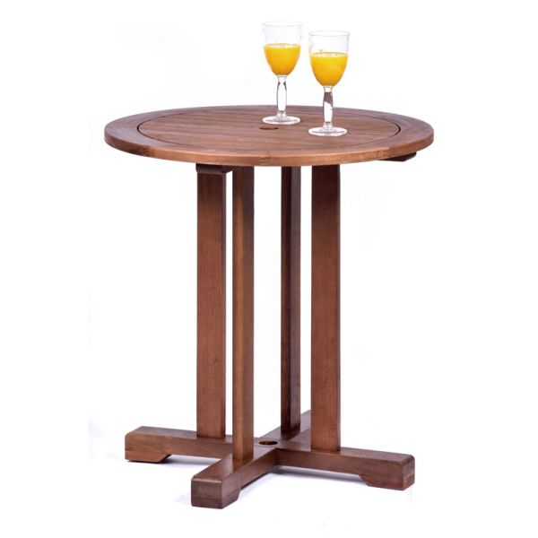 Melton Hardwood Round Pedestal Table and 2 Side Chairs