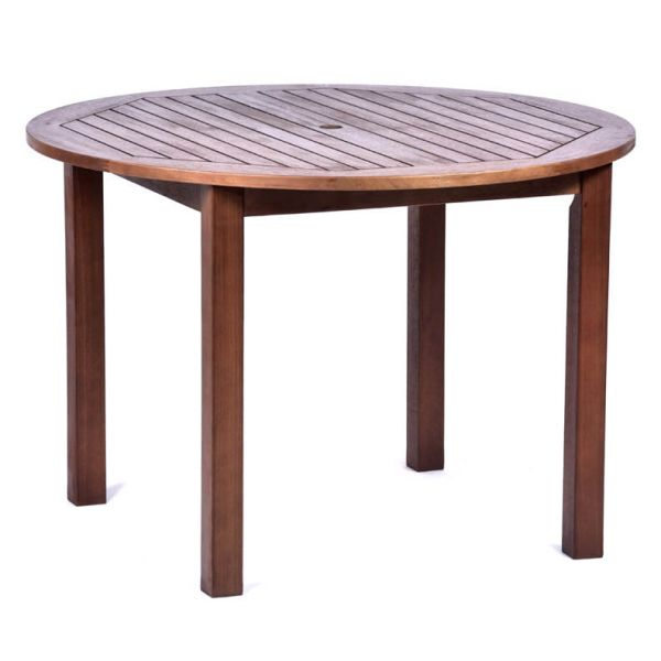 Melton Hardwood Round Table and 4 Side Chairs