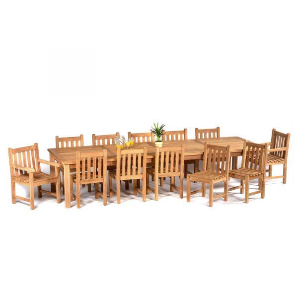 Benson Teak Super Rectangular Dining Table