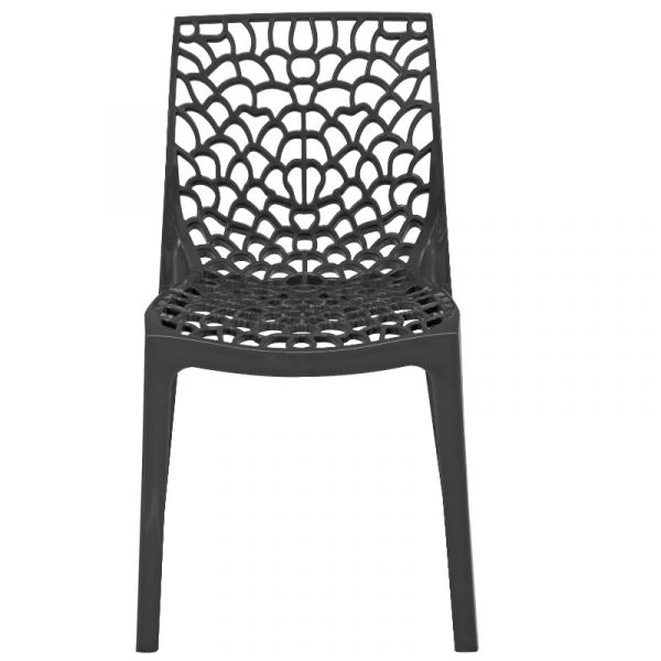 Neptune Polypropylene Stackable Side Chair in Anthracite