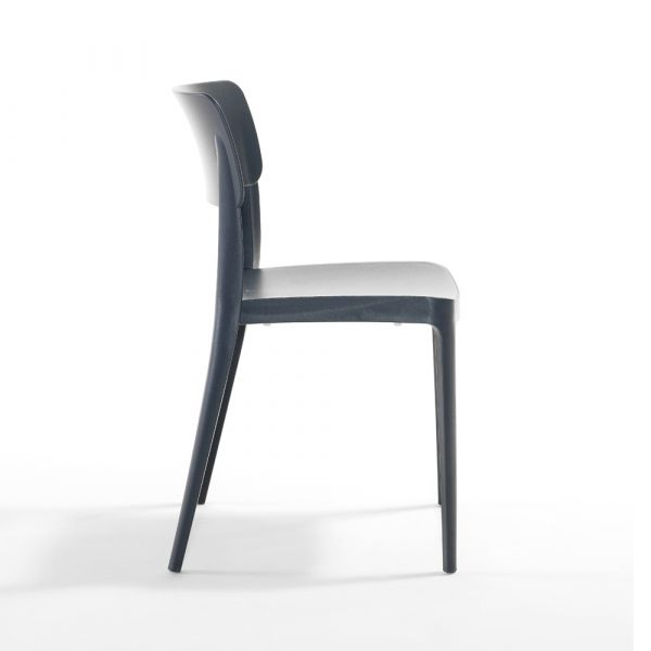 Pano Polypropylene Stackable Side Chair in Anthracite
