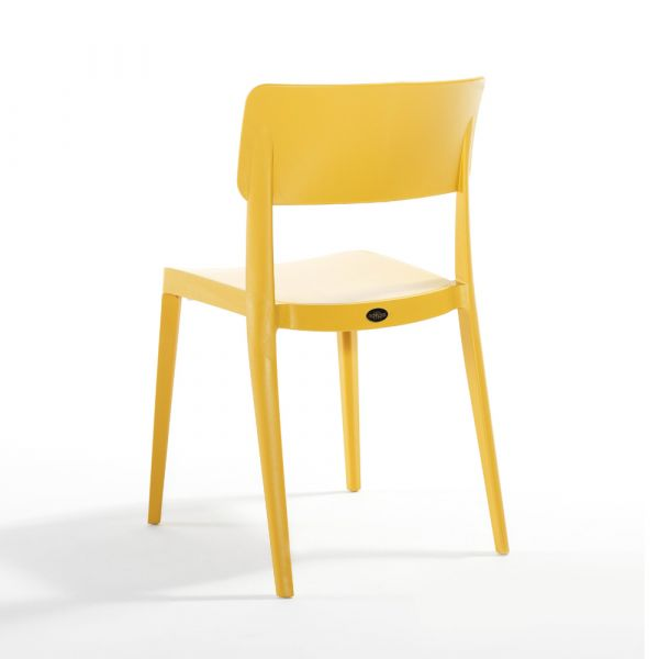 Pano Polypropylene Stackable Side Chair in Mustard