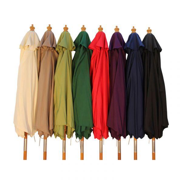 2.5m Wooden Parasol - Various Colours Available
