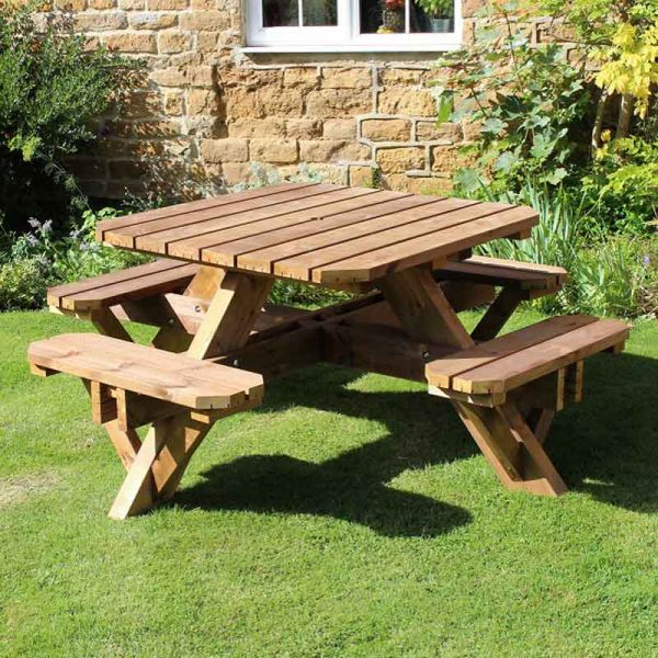 Ambleside Octagonal 8 Seat Commercial Picnic Table