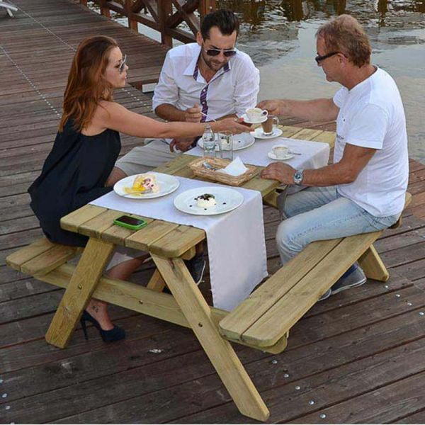 Jersey A Frame 6 Seat Commercial Picnic Table