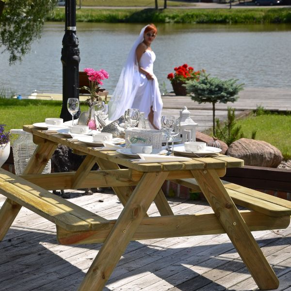 Jersey 8 Seat A Frame Picnic Table 180cm (32mm)