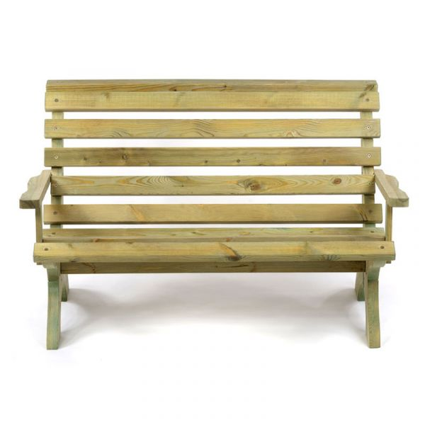 Lillly 3 Seat Pine Bench with Arms