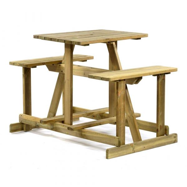 Guernsey 4 Seat Walk-In Commercial Bar Picnic Table