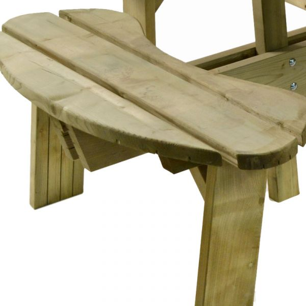 Aberdeen Heavy Duty Round 8 Seat Commercial Picnic Table