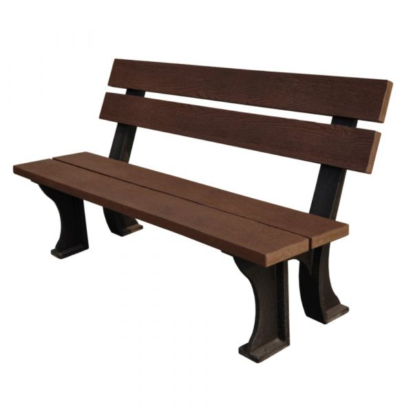 Recycled Plastic 3 Seat Commercial Armless Bench