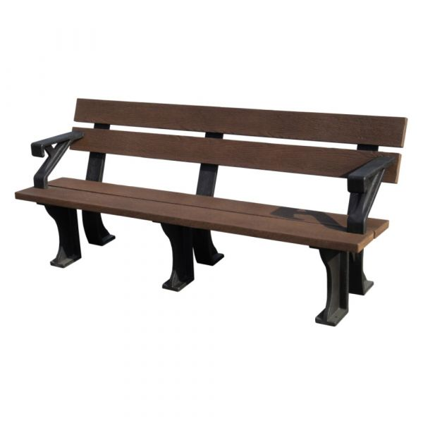 Recycled Plastic 4 Seat Commercial Bench With Arms