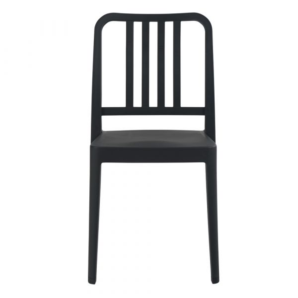 Varia Polypropylene Stacking Side Chair in Anthracite