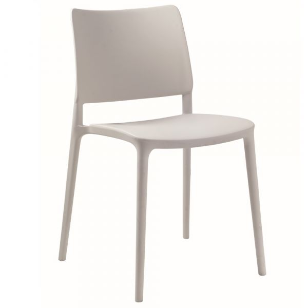 Joy Polypropylene Stacking Side Chair in Grey
