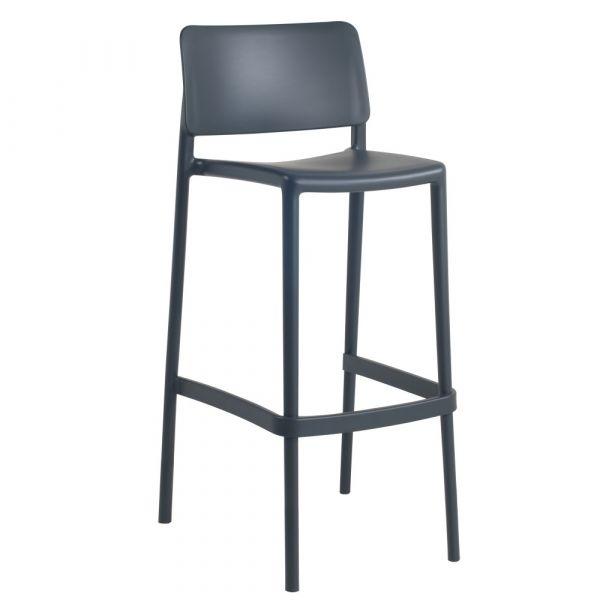 Joy Polypropylene Stacking Bar Chair in Anthracite