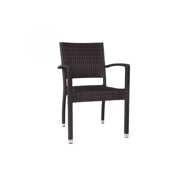 Ascot Classic Rattan Stacking Arm Chair