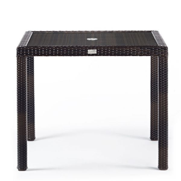 RA Table 90cms Square Glass