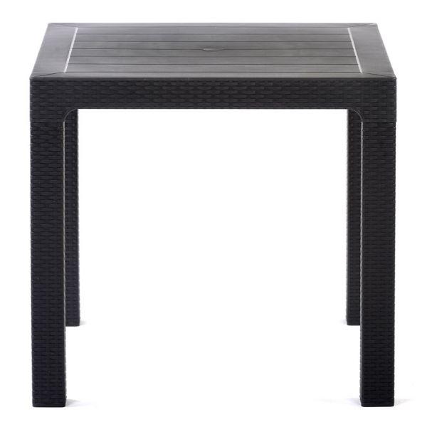Palma Rattan Effect Polypropylene Square Dining Table