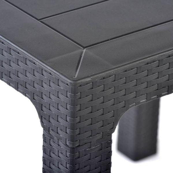 Palma Rattan Effect Polypropylene Rectangle Dining Table