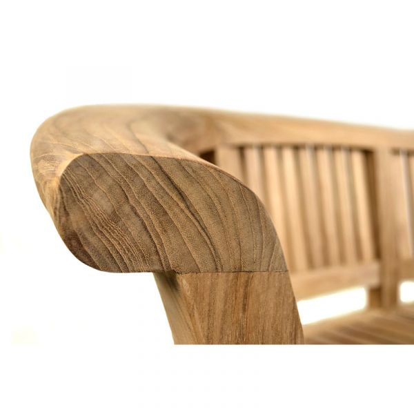 Windsor 3 Seat Grade A Teak Curved Bench