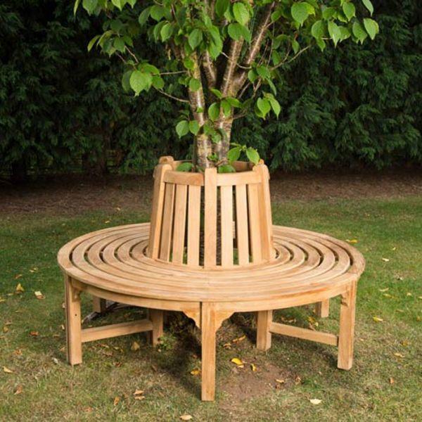 Small Grade A Teak Full Tree Seat