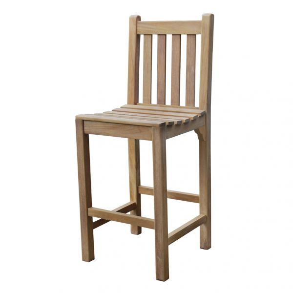 Warwick Grade A Teak Bar Table and 4 Bar Chairs