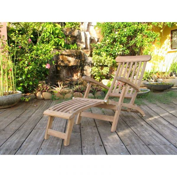 Grade A Teak Foldable Steamer Chair