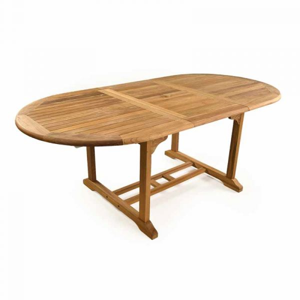 King John Grade A Teak Table and 4 Harston Stacking Chairs