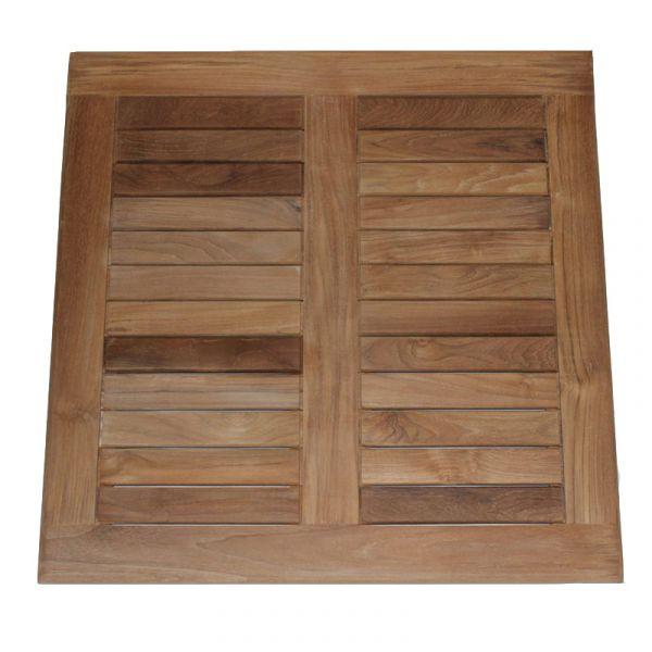 Grade A Teak Square 80cm Teak Table Top