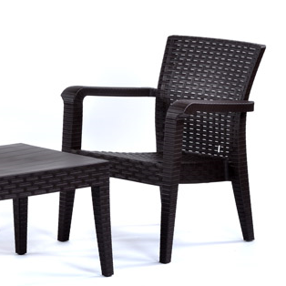 Alaska Sofa Set Brown (2xChairs. 1xSofa. 1xTable. No cushions)