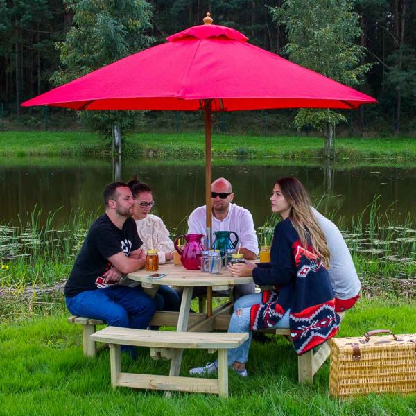 York Round 8 Seat Commercial Picnic Table