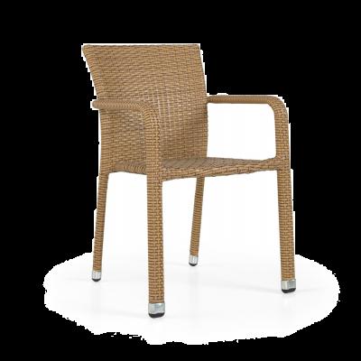 Lagos Rattan Arm Chair Light Brown (ALR-1)