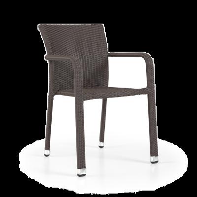 Lagos Rattan Arm Chair Mocca Cream (ALR-1)