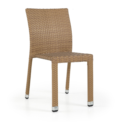 Lagos Rattan Side Chair Light Brown (ALR-2)