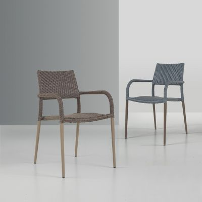 Lisban Rattan Arm Chair Cream (ALR-3)