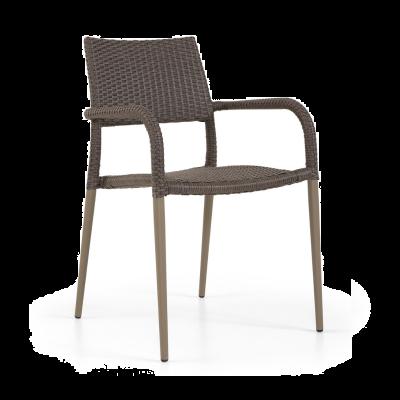 Lisban Rattan Arm Chair Mahogany (ALR-3)