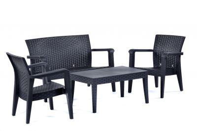 Alaska Sofa Set - Anthracite