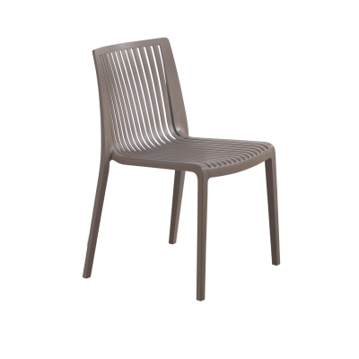 Cool Polypropylene Stacking Side Chair in Taupe