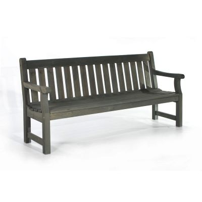 Darwin 4 Seat Pine Bench in Dark Grey