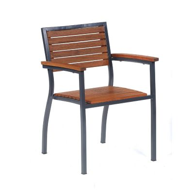 Dorset Hardwood Stacking Arm Chair
