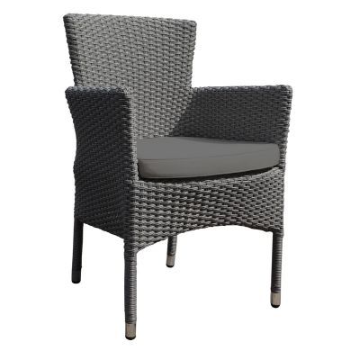 Oasis Rattan Full Back Stacking Arm Chair with Cushion