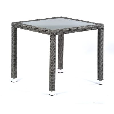 Oasis Rattan Square Glass Dining Table