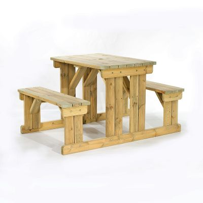 Guernsey 4 Seat Walk-In Commercial Picnic Table