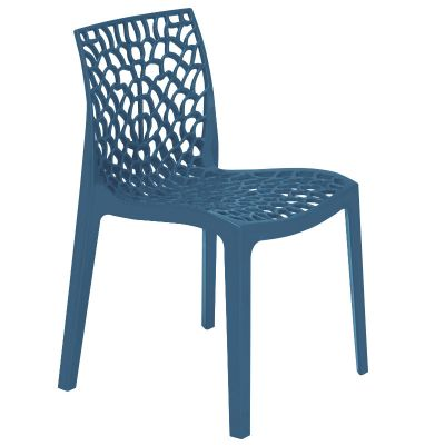 Neptune Polypropylene Stackable Side Chair in Avio Blue